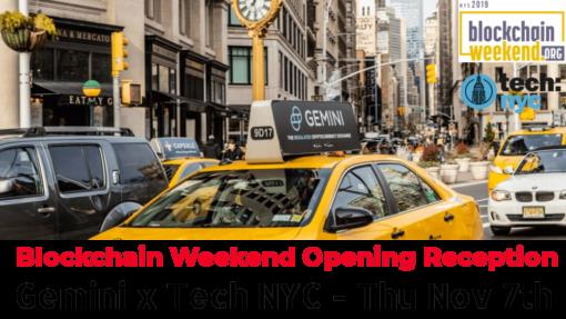 Gemini BlockchainWeeekend Opening Reception